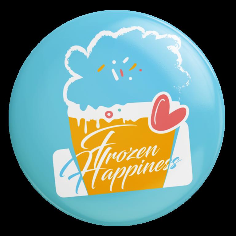 Frozen Happiness - Badge ijs